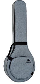 Viking Premium 5 String Banjo Bag Grey cloth exterior. 20mm padding. Ideal for most 5 str banjos