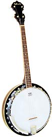 Ashbury Tenor Banjo, 19 Fret, Mahogany 4 string, aluminium rim, 30 tension hooks, mahogany resonator, 11