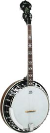 Ashbury Tenor Banjo, Brass Tone Ring Good quality brass tone ring, 30 tension hooks, mahogany resonator and rim..