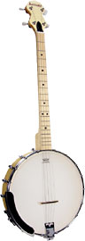 Ashbury Openback Tenor Banjo, Maple Rim 4 string, openback, maple rim, rolled brass tone ring, 18 tension hooks..