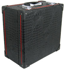 Scarlatti Standard Melodeon Case Fits most 2 row melodeons. Wooden rexine cover hard shell case with red strip