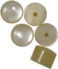 Sherwood Flat Treble Melodeon Buttons Bag of 5 buttons suitable for Scarlatti Nero/Rosso melodeons