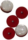 Sherwood Stepped Treble Melodeon Button Bag of 5 buttons and felt suitable for Sherwood and many other melodeons