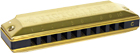 Clarke Victorian Harmonica in C Major 10 hole blues harmoncia in C. Brass/silver alloy reeds on 0.1mm brass plates