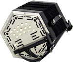 Stagi G/D Anglo Concertina, 30 Key Anglo system with plain design metal end plates. W15E Model.