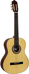 Delgada Classical Guitar, Full Size Classical model with Solid spruce top, saepli back and sides