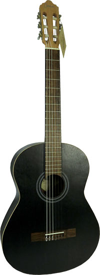 Carvalho Classical Guitar, 1N Black Oak All laminate Oak wood stained with a black open pore finish