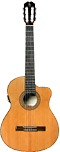 Carvalho Classical Guitar, 5CCW Solid cedar top, walnut back and sides. Cutaway with pick-up and EQ