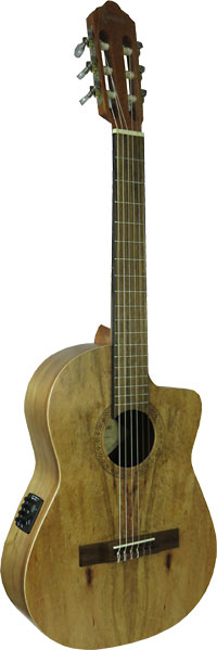 Carvalho 3/4 Classical Electro Guitar Koa top. Koa back and sides. Cutaway body with P/U and EQ system