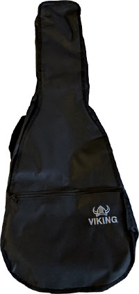 Viking Std Classic Guitar Bag, 1/2 Tough 600D black nylon outer with 3mm padding. Black lining.