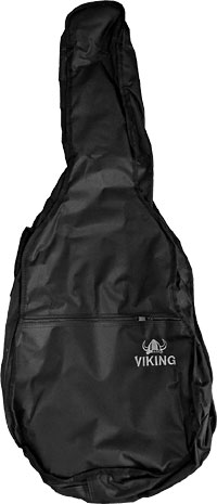 Viking Std Classical Guitar Bag, 4/4 Tough 600D black nylon outer with 3mm padding. Black lining.