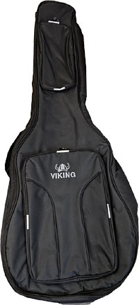 Viking Deluxe Classical Guitar Bag Tough 600D black nylon outer with 10mm padding. Black lining.