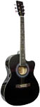 Blue Moon Small Body Guitar, Cutaway, BLK Small body with cutaway, black gloss finish, spruce top, hardwood fingerboard