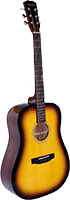 Blue Moon Dreadnought Guitar, Sunburst Spruce top with sapele back and sides