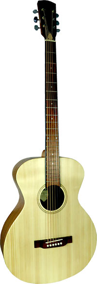 Carvalho Baritone Acoustic Guitar Solid spruce top with sapele back and side. Open pore finish