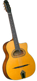 Cigano Gypsy Jazz Guitar, D Hole Solid sitka spruce top with mahogany back and sides