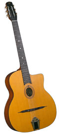 Cigano Gypsy Jazz Guitar, Oval Hole Solid sitka spruce top with mahogany back and sides