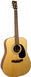Bristol Dreadnought Guitar By Blueridge. Spruce top, mahogany body & neck. Natural high gloss finish