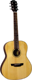 Ashbury Baby Guitar, 3/4 Size A 3/4 size steel strung guitar. Spruce top. Mahogany body, satin finish.
