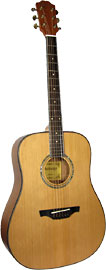 Ashbury Dreadnought Guitar Solid Cedar Solid Cedar top. Mahogany body with a satin finish..