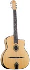 Gitane Gypsy Jazz Guitar, Petit Bouche Solid spruce top with small oval soundhole provides that bell bright attack
