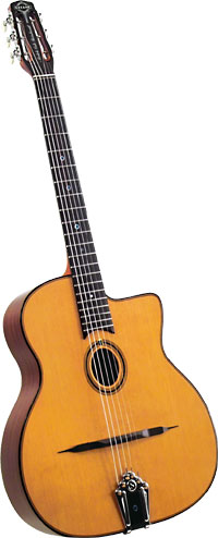 Gitane Lulo Reinhardt Gypsy Guitar Solid Sitka spruce top with small oval soundhole