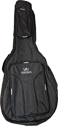 Ashbury Deluxe Dreadnought Guitar Bag Tough black nylon outer with 20mm padding, black & blue..