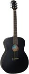 Ashbury OOO Style Acoustic Guitar Black finished spruce top with mahogany 000 body.