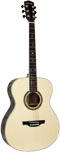 Ashbury 000 Guitar, Left handed Left handed. Solid spruce top with 2 piece rosewood back with maple centre strip