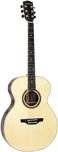 Ashbury Parlour Guitar, Solid Spruce Solid engelmann spruce top with 2 piece rosewood back with maple centre strip.