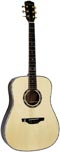 Ashbury Dreadnought Guitar, All Solid Solid AAA spruce top,  2 piece Solid AAA rosewood back with maple centre strip.