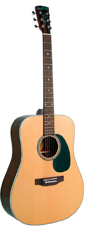Blueridge Dreadnought Acoustic Guitar Contemporary Series. Solid sitka spruce top. Santos rosewood back and sides