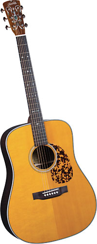 Blueridge Historic Acoustic Guitar Aged finished solid Sitka top, solid santos rosewood body, herringbone inlay.
