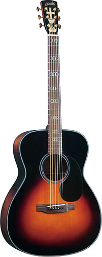 Blueridge Gospel Guitar Solid Sitka spruce top with a 000 body size. Sunburst high gloss finish