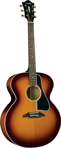 Blueridge Jumbo Acoustic Guitar Solid sitka spruce top with scalloped bracing. Jumbo body style.