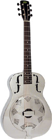 Regal Metal Body Resonator Guitar Nickel plated brass body, 91/2