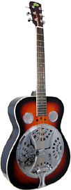 Regal Resonator Guitar Sunburst Vintage sunburst, spruce top, mahogany body, 10 1/2