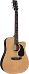 Ashbury Electro Acoustic Guitar, c/away Dreadnought body with cutaway and passive pick-up. Solid Canadian spruce top.