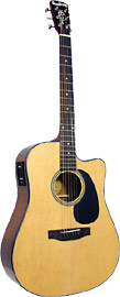 Blueridge Contemporary Guitar, Electro Dreadnought Guitar with cutaway, solid spruce top, Fishman classic 4 pick-up