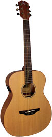 Ashbury 000 Guitar, Electro Acoustic Solid Cedar top. Mahogany body with a satin finish. Fishman Isys Pick-up.