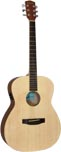 Ashbury Electro Acoustic Guitar, Nat Electro acoustic with a natural spruce top with mahogany 000 body.