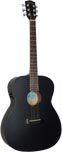Ashbury Electro Acoustic Guitar, Black Electro acoustic with black coloured spruce top, mahogany 000 body.