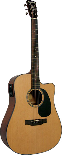 Blueridge Dreadnought Guitar, Electro Contemporary Series. Solid sitka spruce top. Cutaway body with pick-up