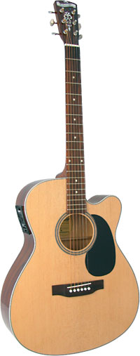 Blueridge 000 Guitar, Electro Contemporary Series. Solid sitka spruce top. Cutaway body with pick-up