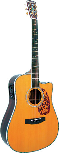 Blueridge Dreadnought Guitar, Electro Historic Series. Solid premium sitka spruce top. Cutaway body with pick-up