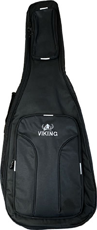 Viking Deluxe Electric Guitar Bag Tough 600D black nylon outer with 10mm padding. Black lining.