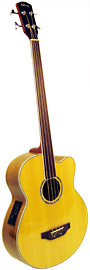 Ashbury Electro Acoustic Fretless Bass Fretless electro acoustic with cutaway and Belcat 4 band EQ..