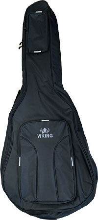 Ashbury Deluxe Acoustic Bass Bag Tough black nylon outer with 20mm padding, black & grey..