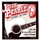 John Pearse Guitar Set, Light, Bronze .012-.053. Bronze wound, light gauge set from the legendary Breezy Ridge company