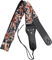 Viking Woven Guitar Strap. UK Funky Patterned strap with a black webbing back. 6.5cm wide